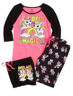 Bff Unicorn Pajama Set | Girls Pajamas Pjs, Bras & Panties | Shop Justice