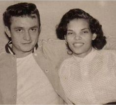 Johnny Cash and his first wife Vivian Liberto
