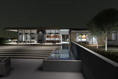Rear Facade and Reflecting Pool, by Modern House architects  San Francisco / Burlingame, CA, US 94010