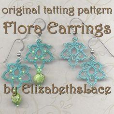 Etsy の Original Tatting Pattern  Flora Earrings by ElizabethsLace