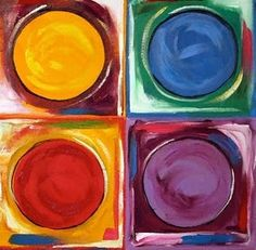 No 52 2 Abstract Circle Painting by Contemporary Texas Artist Laurie Pace, Caring -- Laurie Justus Pace