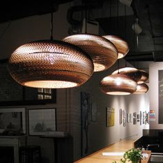 made from corrugated cardboard. graypants — DISC_16 scraplights.