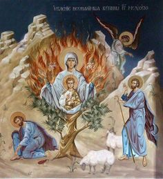 Jesus Christ is in our midst. Religious Images, Religious Icons, Religious Art, Byzantine Icons, Byzantine Art, Burning Bush, Christian Pictures, Religious Paintings, Blessed Virgin Mary