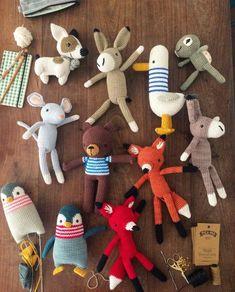 Super cute kawaii crochet amigurumi plushie toys, love that duck. PicaPau