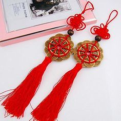 Product Description: Brand new and high quality -Name:Five emperors coins with heart knot pieces -Material:five emperors and red rope -Specifications:big coins:4.3cm small coins:2.5cm -Use:opening ceremony,birthday,awards,wedding,advertising promotions,business gifts,anniversary... see more details at https://bestselleroutlets.com/arts-crafts-sewing/beading-jewelry-making/charms/product-review-for-youmei-2pcs-handmade-five-emperors-coins-chinese-knot-for-wealth-and-success/