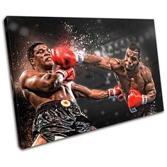 Mike Tyson, Canvas Artwork, Canvas Art Prints, Black Panther Symbol, Picture Wall, Picture Frames, Multi Canvas Art, Float Like A Butterfly, Boxing Gloves