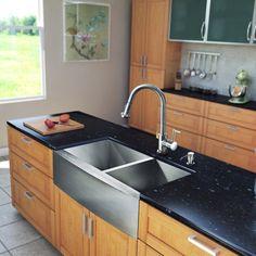 Vigo VG15132 Double Basin Farmhouse Kitchen Sink and Faucet Set - VG15132