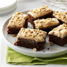 Chocolate-Peanut Butter Sheet Cake Recipe -I love peanut butter and chocolate, so I combined recipes to blend the two. This cake is heavenly served plain or topped with ice cream. —Lisa Varner, El Paso, Texas