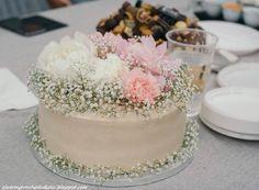 Kwiatowy tort na rocznicę ślubu