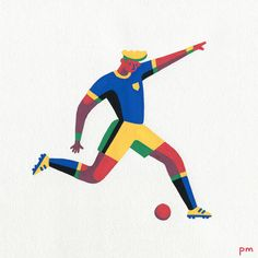 In Motion - illustration series with Posca markers by Priya Mistry Simple Illustration, Character Illustration, Graphic Design Illustration, Grid Design, Flat Design, Sport, Character Design, Design Inspiration, Football