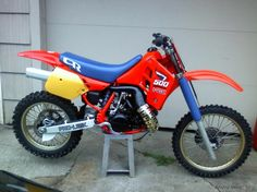 Honda CR500R Dirt Bike... David had this bike too. Very fast and fun to ride.