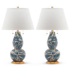 From Furbish: Splatter Lamp Pair - Light Blue