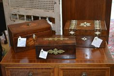 English Antique Boxes from the 1800's Appointments at Five, Athens, Ga