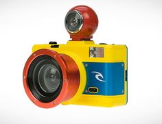 Lomo's new Ripcurl waterproof fisheye camera. Awesome!