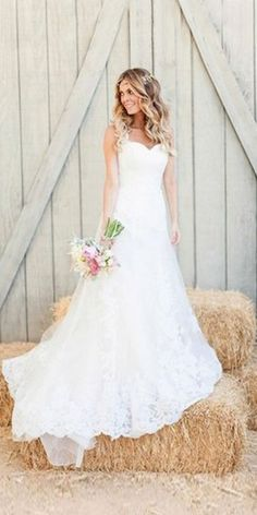 Bridal Inspiration: Rustic Wedding Dresses ❤ See more…