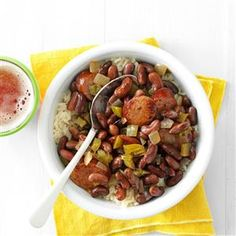 Being from Louisiana, red beans are my go-to for comfort food. Putting on a nice pot of red beans for our Sunday family dinner goes back generations in my family. Dig in with some hot buttered corn bread. Red Beans And Sausage Recipe, Sausage Recipes, Slow Cooker Recipes, Crockpot Recipes, Cooking Recipes, Cajun Cooking, Cajun Food, Slow Cooking, Bean Recipes