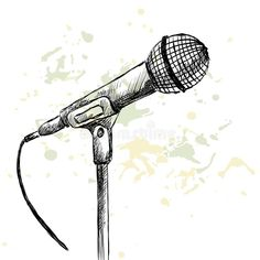 Illustration about Sketch microphone on a white background with blots. Illustration of creative, object, concept - 54539151 Microphone Drawing, Old Microphone, Microphone Tattoo, Music Illustration, Illustration Sketches, Art Sketches, Illustrations, Mic Tattoo, Singing Drawing
