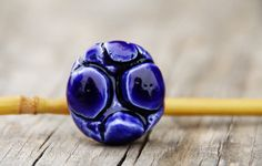 Deep indigo porcelain ring by LAccentNou on Etsy, $35.00