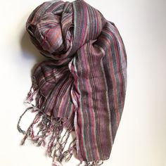 """Multicolor Scarf Approx 66"""" long. Light weight material. Some imperfections with a loose thread or two; the worst is pictured. Overall hard to tell because of pattern. Accessories Scarves & Wraps"""