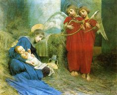 """Marianne Stokes (English, 1855 - 1927), """"Angels Entertaining the Holy Child"""" by sofi01, via Flickr"""