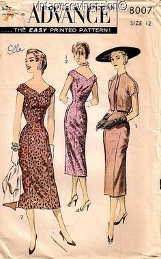 1950s sheath dress and jacket pattern | Flickr - Photo Sharing!