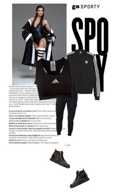 """Go Sporty Part 3"" by tiffanyelinor ❤ liked on Polyvore featuring Balmain, adidas Originals, Alexander McQueen, adidas, Giuseppe Zanotti, sporty, sportyfashion and gosporty"
