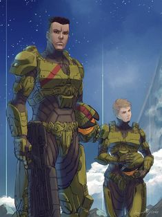 and rendezvous with other Spartan-IIs on Zeta Halo for the one last stand. To Infinity and Beyond Sci Fi Characters, Video Game Characters, Rogue One Poster, Halo Funny, Character Art, Character Design, Halo Spartan, Halo Armor, Halo Series
