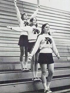 vintage everyday: B&W Photographs of Cheerleaders in 1960s - 70s