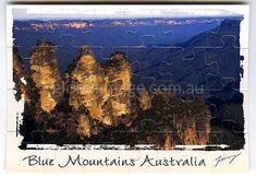 Blue Mountains Australia        Jigsaw-Card 143