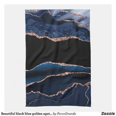 Beautiful black blue golden agate inspired kitchen towel Pink And Green, Blue, Animal Skulls, White Shop, Artwork Design, Kitchen Towels, Home Deco, Agate, Looks Great