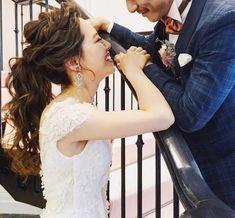 いいね!3,266件、コメント1件 ― MAISON DE RIREBRIDEさん(@maison.de.rire)のInstagramアカウント: 「@vow_wedding.1895 前撮りの新郎新婦様のヘアメイクのお色直しはポニーテール hair/yuudai」
