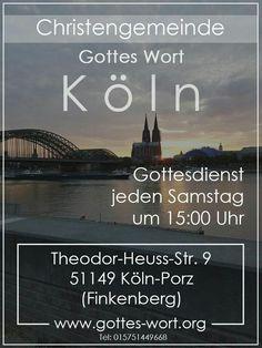 Jeden Samstag findet ein Gottesdienst statt. Köln gehört Jesus!