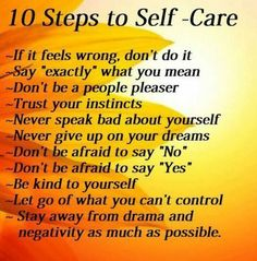 10 Steps to Seif-Care