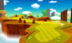 Golf Course art 5 from the official artwork set for #MarioGolf World Tour on the #Nintendo3DS. More info on #Mario 3DS games @ http://www.superluigibros.com/3ds-games