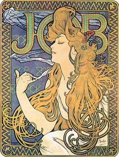 Alphonse Mucha was well-known for his art nouveau work, a commercial art style intended to make products and their advertisements more beautiful. It was common for Mucha to use young beautiful women in his art because it helped exude optimism and happiness.