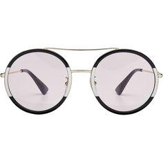 Gucci Round Sunglasses ( 280) ❤ liked on Polyvore featuring accessories 6f4e5cdfe7e4c