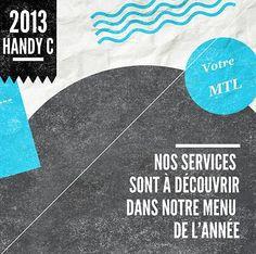 The Handy Club | Nos Services Menu, Proposal, Club, Menu Board Design