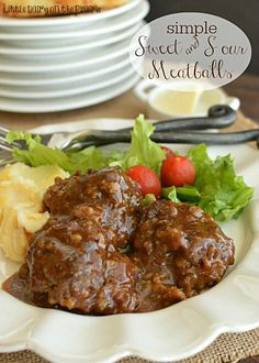 Sweet and Sour Meatballs are one of my favorite quick meals!  Little Dairy on the Prairie