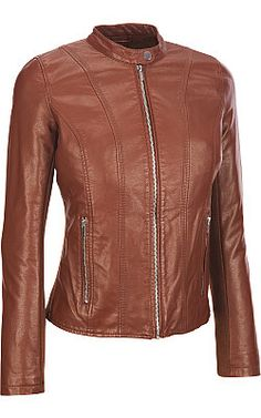 Shell: pure leather Lining: fully lined with cotton silk mix fabric Full-zip pocket; stand-up collar  Two zippered hand pockets Fully warm lined