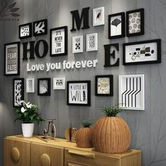 3002f61d3 Solid Wood Large Picture Frames Modern Living Room/Store Photo Frame Set  Big Size Wooden Letter Home Wall Decoration DIY