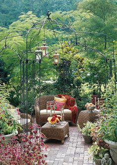 Now to grow Westerland and Laguna Climbing roses on the pergola- and my garden Castle Getaway would be complete!