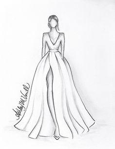 Fashion Drawing Tutorial, Fashion Figure Drawing, Fashion Drawing Dresses, Fashion Illustration Dresses, Dress Fashion, Drawings Of Dresses, Fashion Model Drawing, Dresses Art, Fashion Design Illustrations