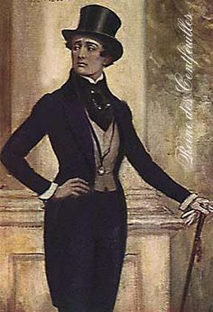 """Dandy- during the nineteenth century George """"Beau"""" Brummel personified the """"dandy"""", a fashionable man who dressed well, was among the best in society and was always ready with a witty comment"""