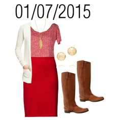 """Red: Wednesday, January 7, 2015"" by josiegirl77 on Polyvore"