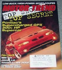 pontiac Car Magazine, Super Cars