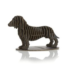 D-Torso Dachshund laser-cut cardboard puzzle from Crate and Barrel