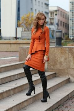 Thick Platform Leather Thigh High Boots [FABI1404]- US$ 98.99 - PersunMall.com