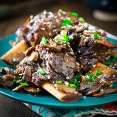Sweet and Spicy Crockpot Short Ribs with Mushrooms and Soy. Don't be intimidated by the name they only take 15 minutes of prep.