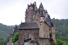 Burg Eltz, located above the Moselle River between Koblenz and Trier, Germany
