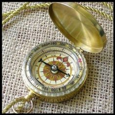 """Steampunk Antique Nautical necklace - COMPASS by umbrellalaboratory. $19.99. ?~?~? The necklace you will fall in love with !  Great gift for everyone even yourself !?~?~?   Our cute steampunk pirate compass has elegant shiny case, gold color.Diameter of the compass is little less then two inches, necklace is roughly 33"""". Cutest item is working and ready for adventure.  Thank you and good luck !"""